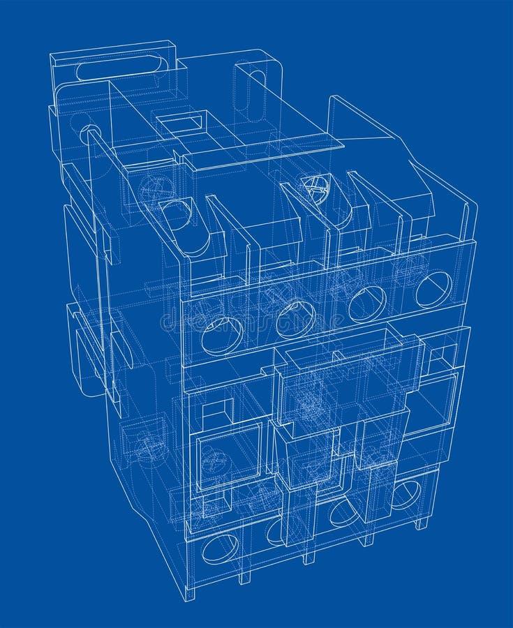 Concept automatique de disjoncteur images libres de droits
