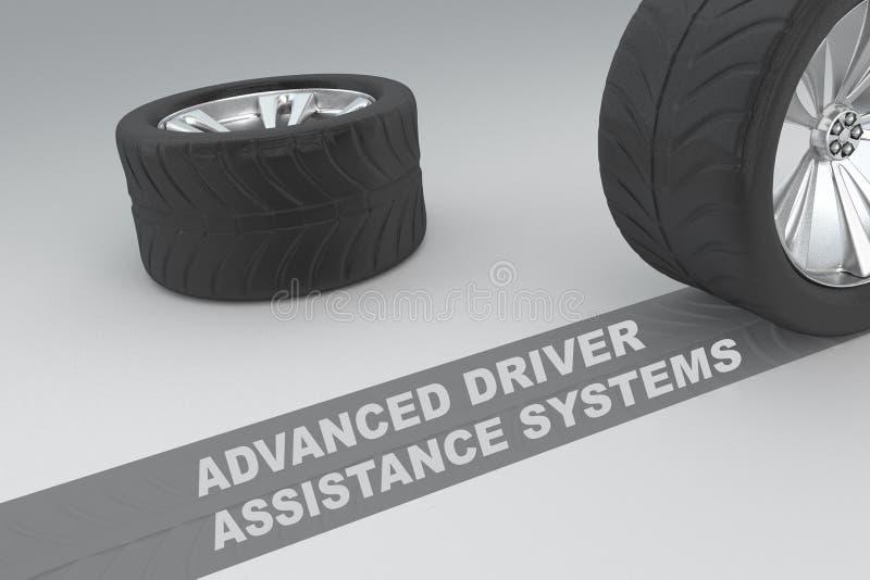Concept avancé d'Assistance Systems de conducteur illustration libre de droits