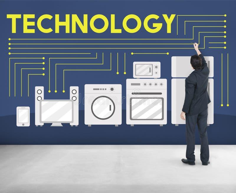 Concept avancé d'innovation d'évolution de la Science de technologie images libres de droits
