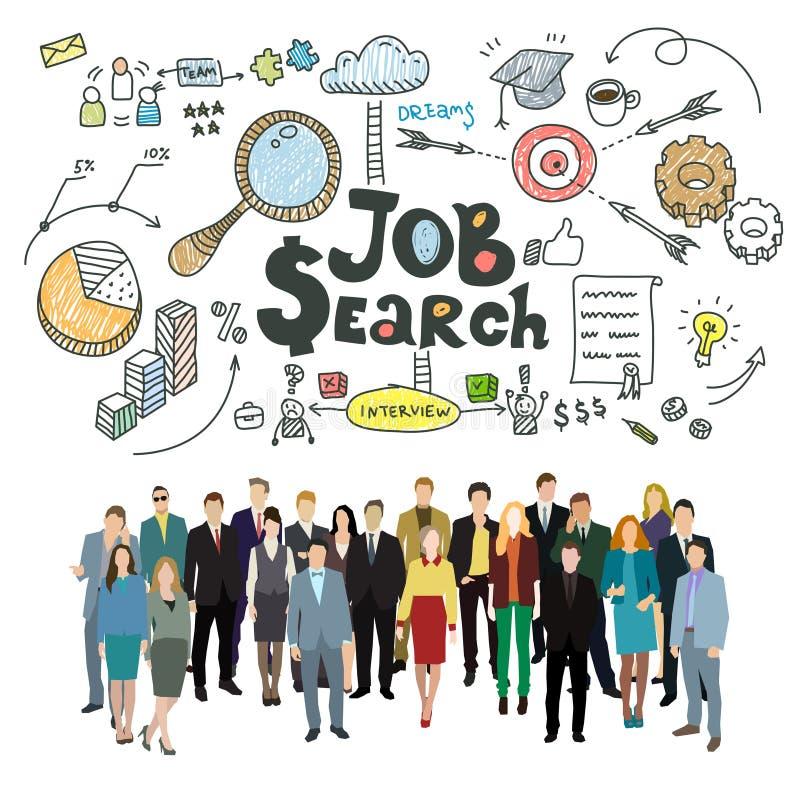 Concept baanonderzoek stock illustratie