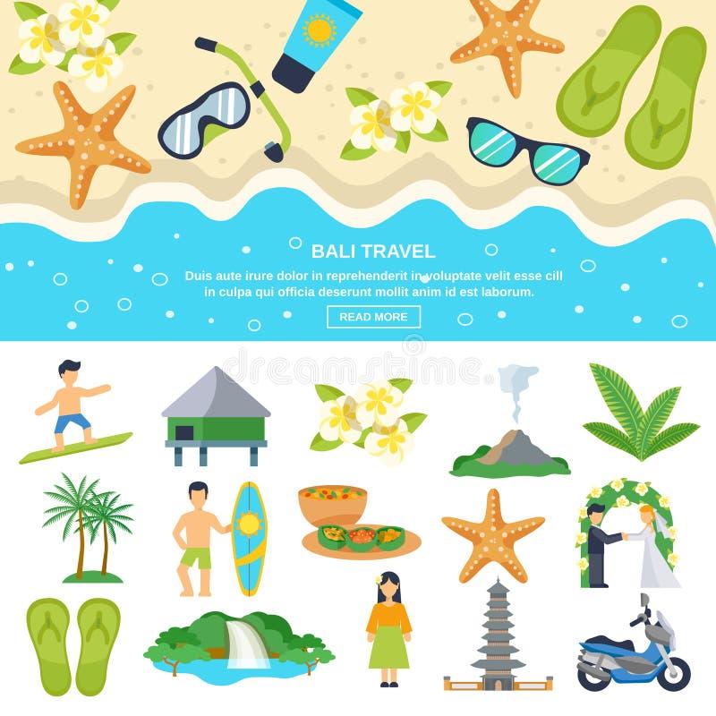 Concept Bali Travel vector illustration