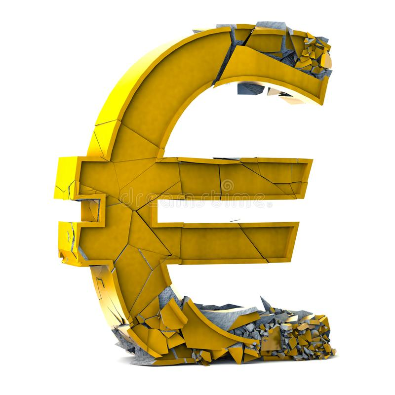 Euro Currency Symbol On White Background Stock Photo Image Of