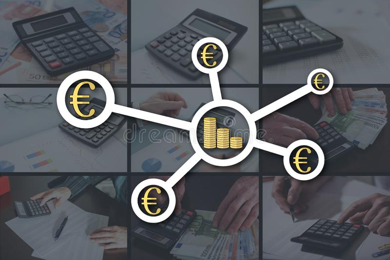 Concept of banking network stock photography