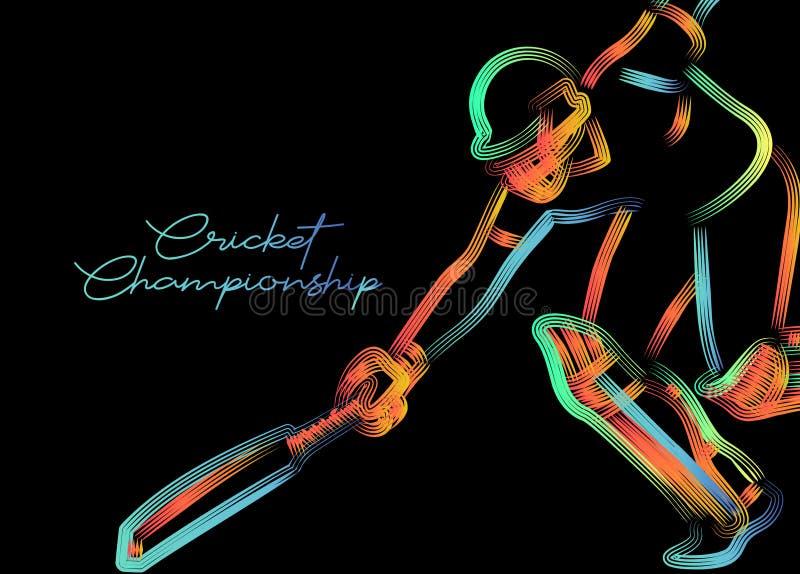 Concept of Batsman run out - cricket championship. Flat Vector illustration vector illustration