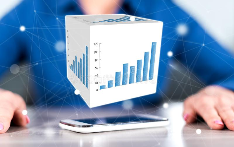 Concept bedrijfsanalyse stock afbeelding