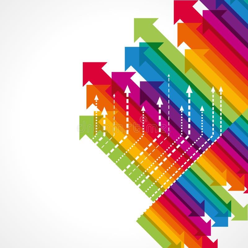 Concept bedrijfsbeweging, Pijlen stock illustratie