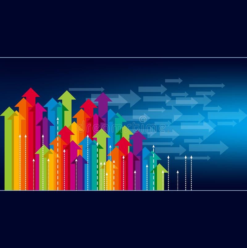 Concept bedrijfsbeweging, Pijlen vector illustratie