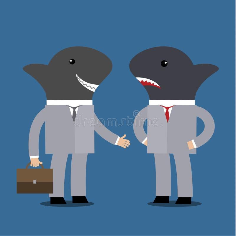 Concept bedrijfshaai stock illustratie