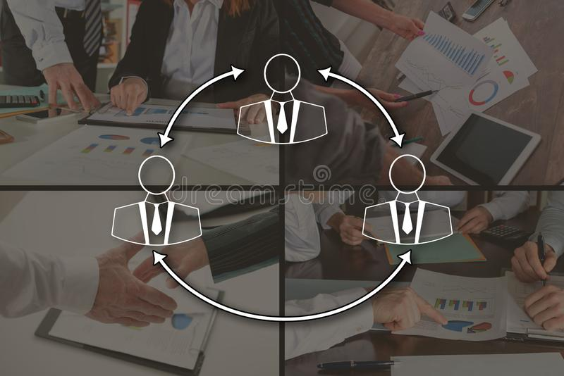 Concept bedrijfsmededeling royalty-vrije stock afbeelding