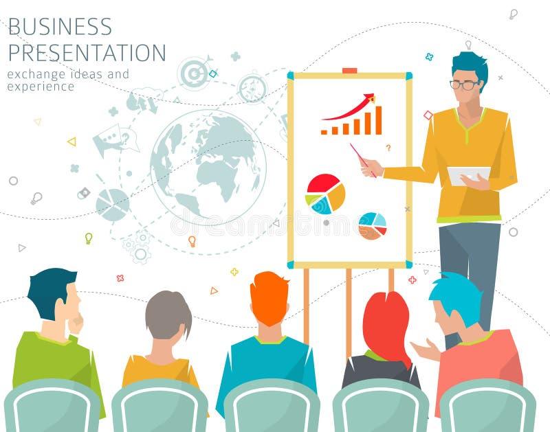 Concept bedrijfspresentatie royalty-vrije illustratie