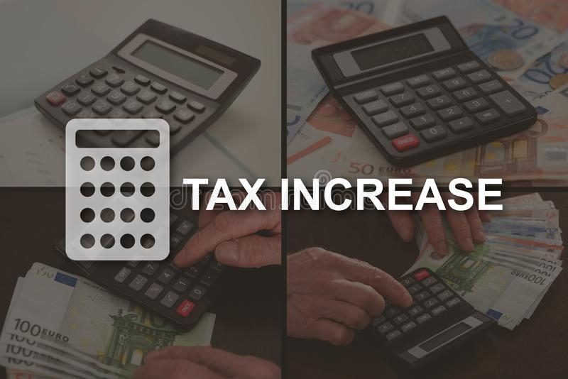 Concept belastingsverhoging stock afbeelding