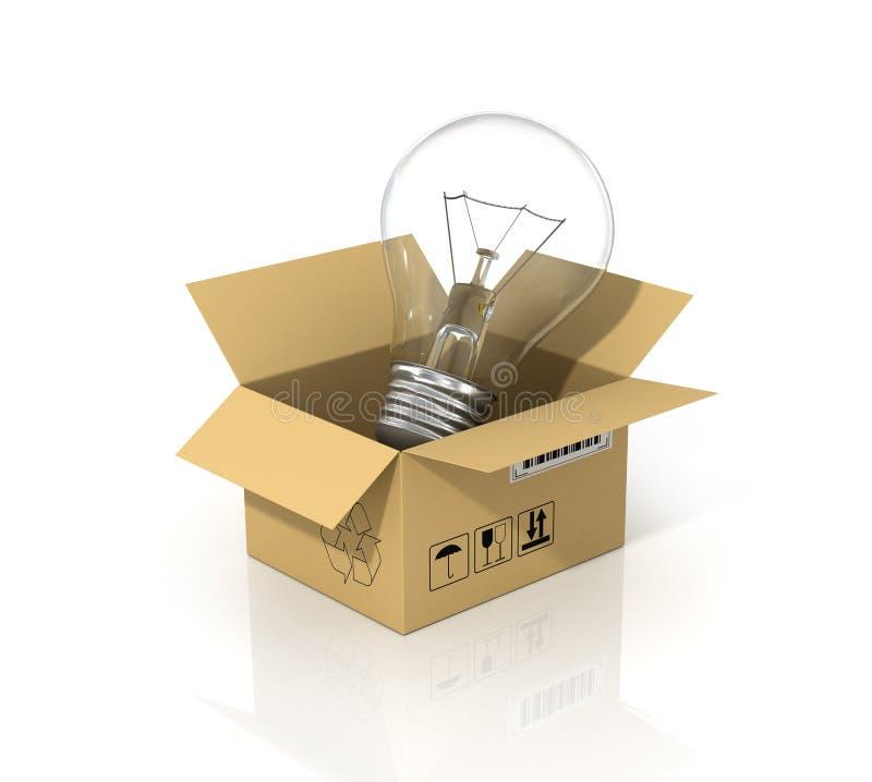 Concept besparingsenergie stock illustratie
