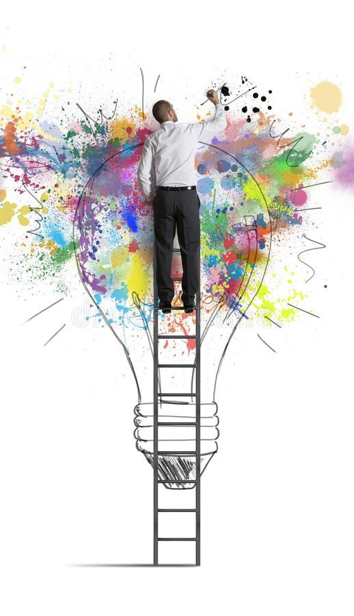 Creative business idea. Concept of a big creative business idea stock images