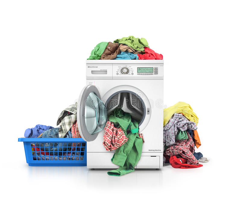 Concept of a big washing. royalty free stock images
