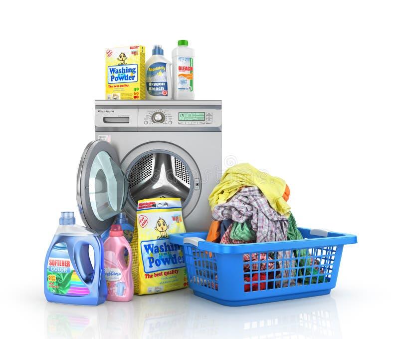 Concept of big washing. vector illustration