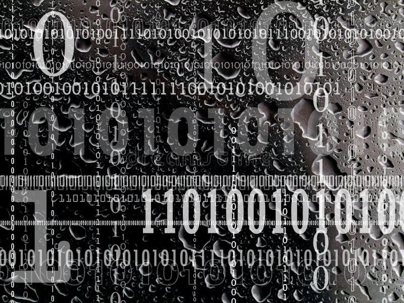 Concept binaire nummering royalty-vrije stock afbeelding