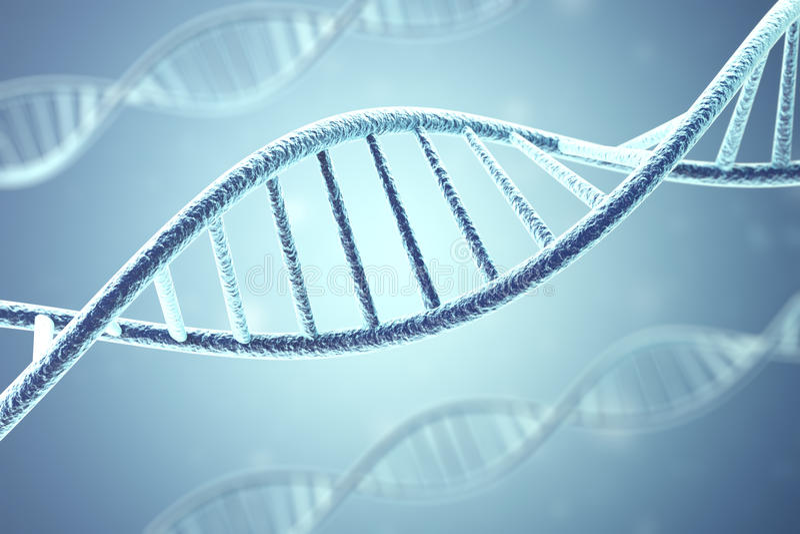 Concept biochemie met DNA-molecule het 3d teruggeven vector illustratie