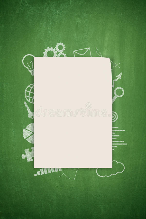 Concept on black blackboard stock photo