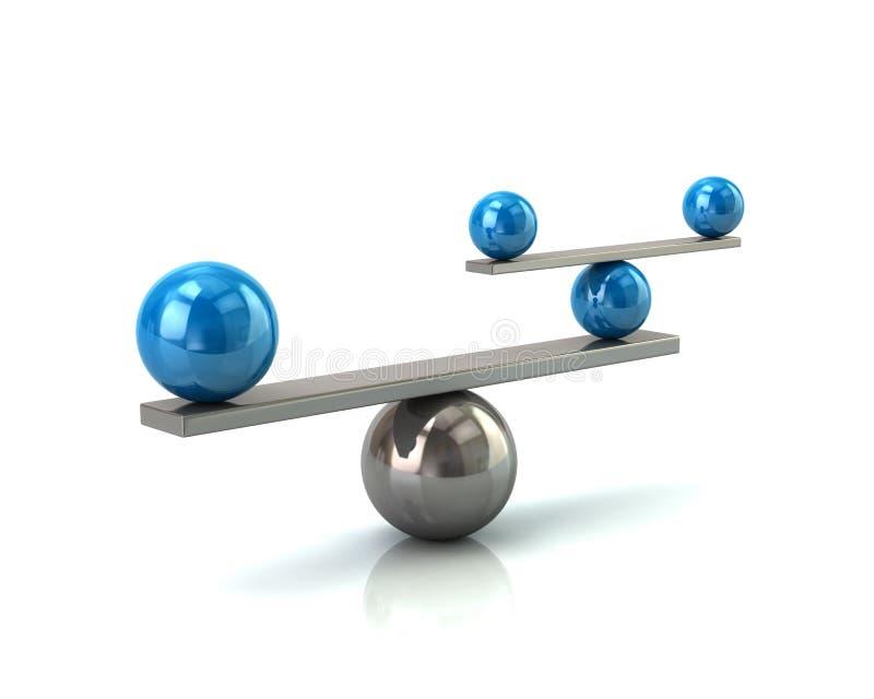 Concept bleu et argenté d'équilibre illustration stock