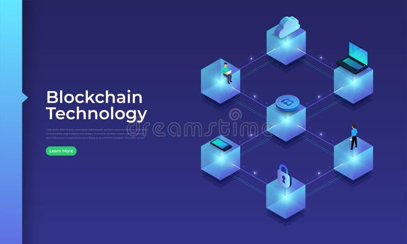 COncept Blockchain Technology stock illustration