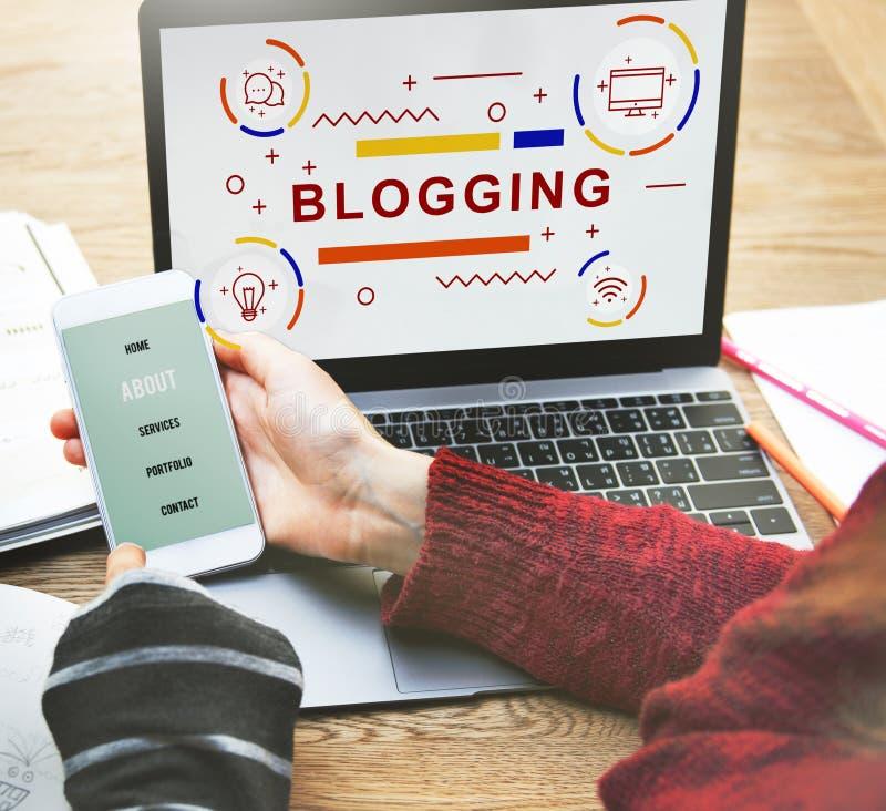 Concept Blogging d'Internet de page d'accueil de blog images stock