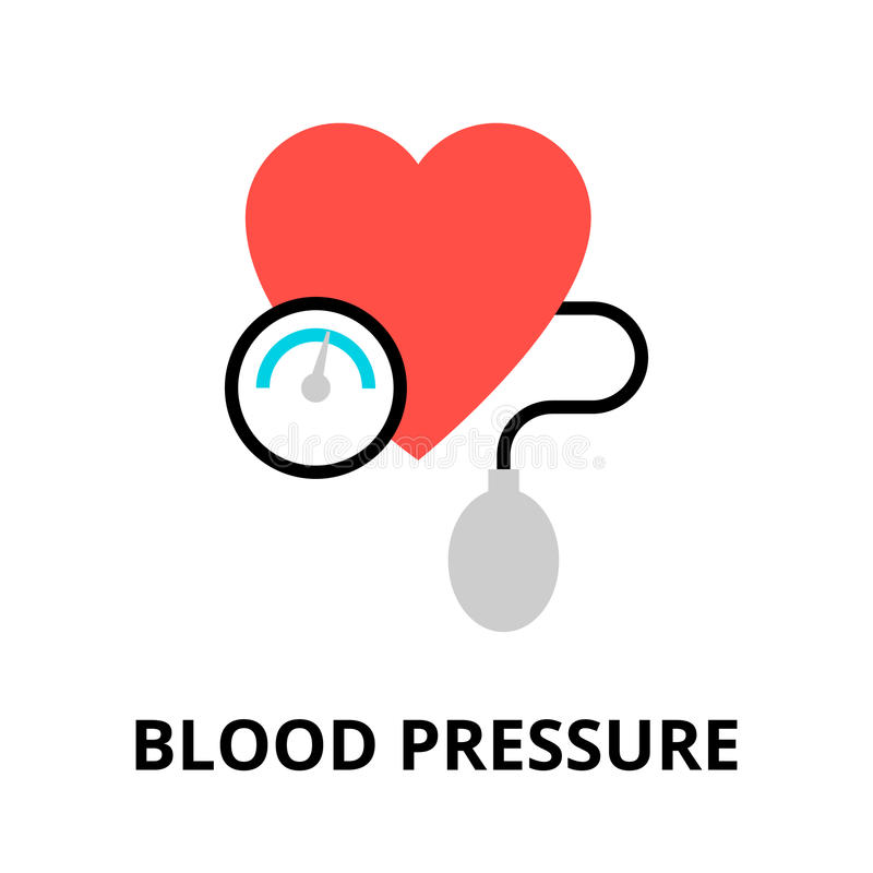 Concept of blood pressure icon. Modern flat editable line design vector illustration, concept of blood pressure icon, for graphic and web design stock illustration