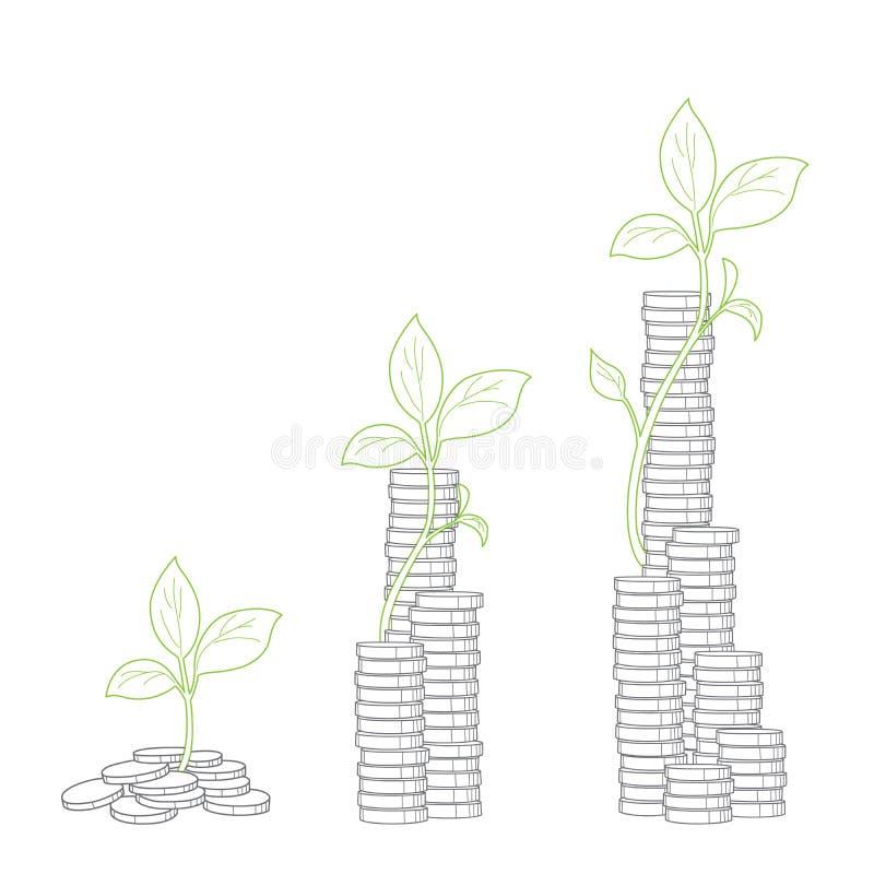 Concept boom het groeien van geld royalty-vrije illustratie