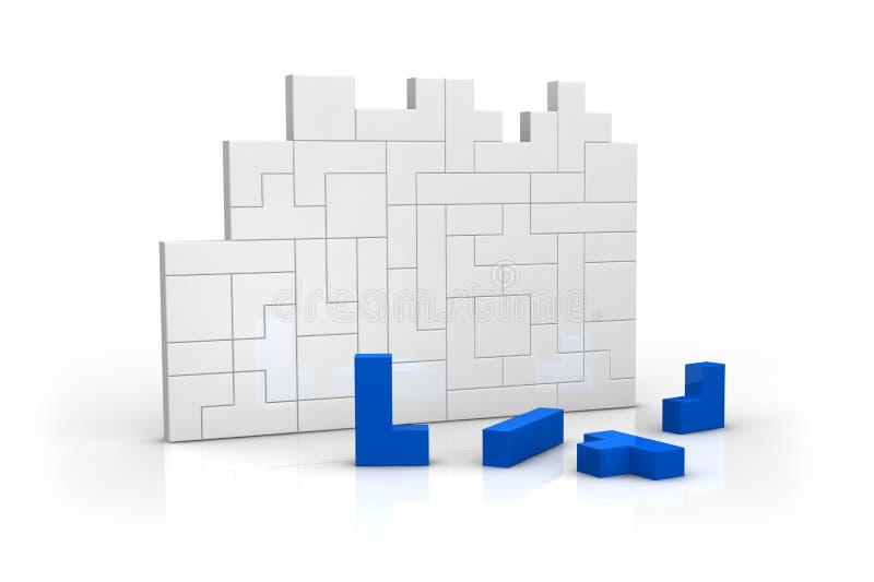 Concept bouwstijl en voltooiing royalty-vrije illustratie