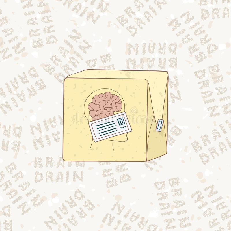 The concept of brain drain. Smart people are leaving the country. royalty free illustration