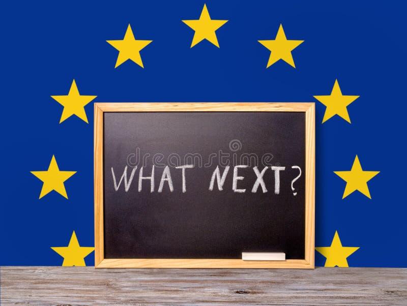 Concept BRITANNIQUE de référendum d'UE de Brexit pour hors de la Grande-Bretagne du Re photographie stock