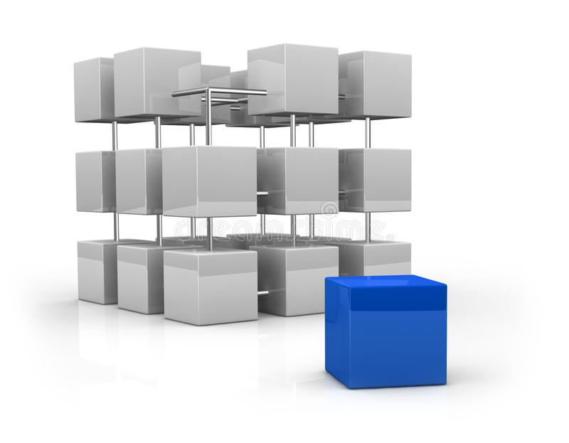 Download Concept Of Build And Completing Stock Illustration - Image: 21888496