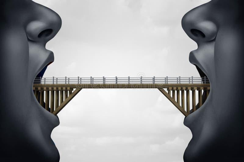 Concept of Building Bridges vector illustration