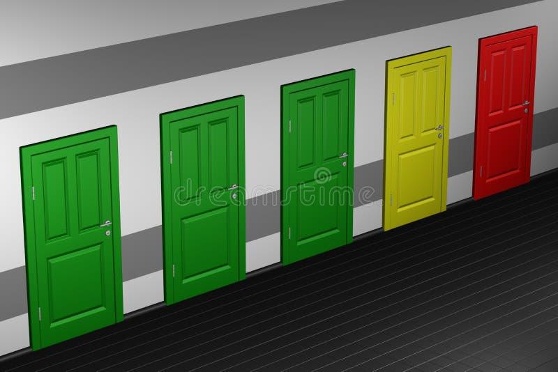 Concept - bureaucratie stock illustratie