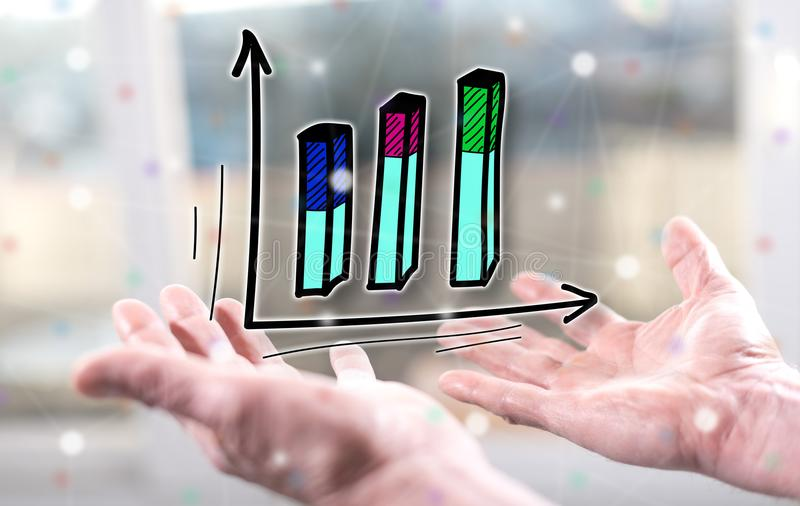 Concept of business analysis stock photography