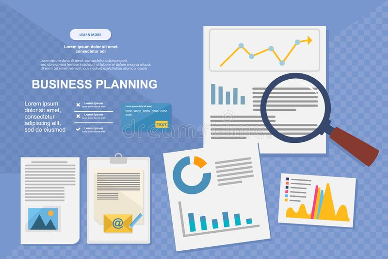Concept for business analysis, market research, data analysis. Concept for business analysis, market research royalty free illustration