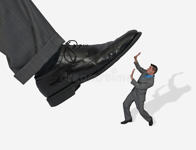 Concept Business Man Stepped On