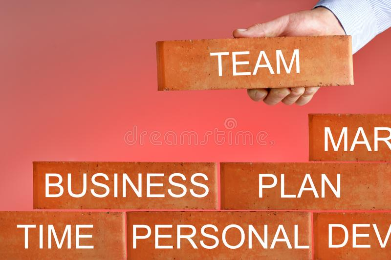 Concept of business plan. Businessman Project business stock photo