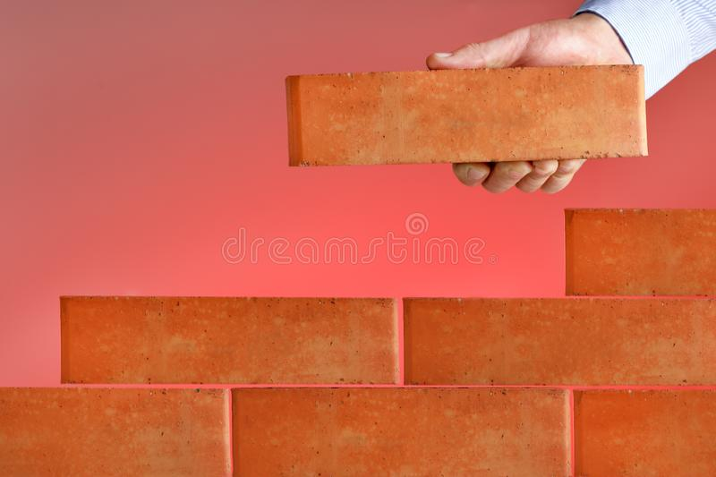 Concept of business plan. Businessman project, build business stock image
