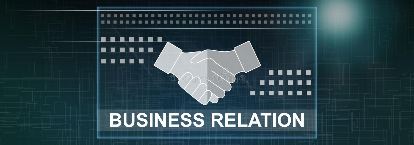 Concept of business relation. Illustration of a business relation concept vector illustration