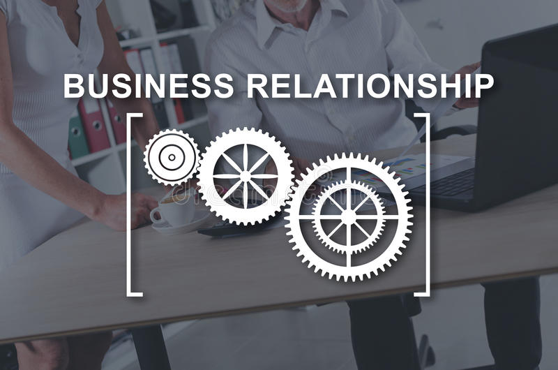 Concept of business relationship stock photo