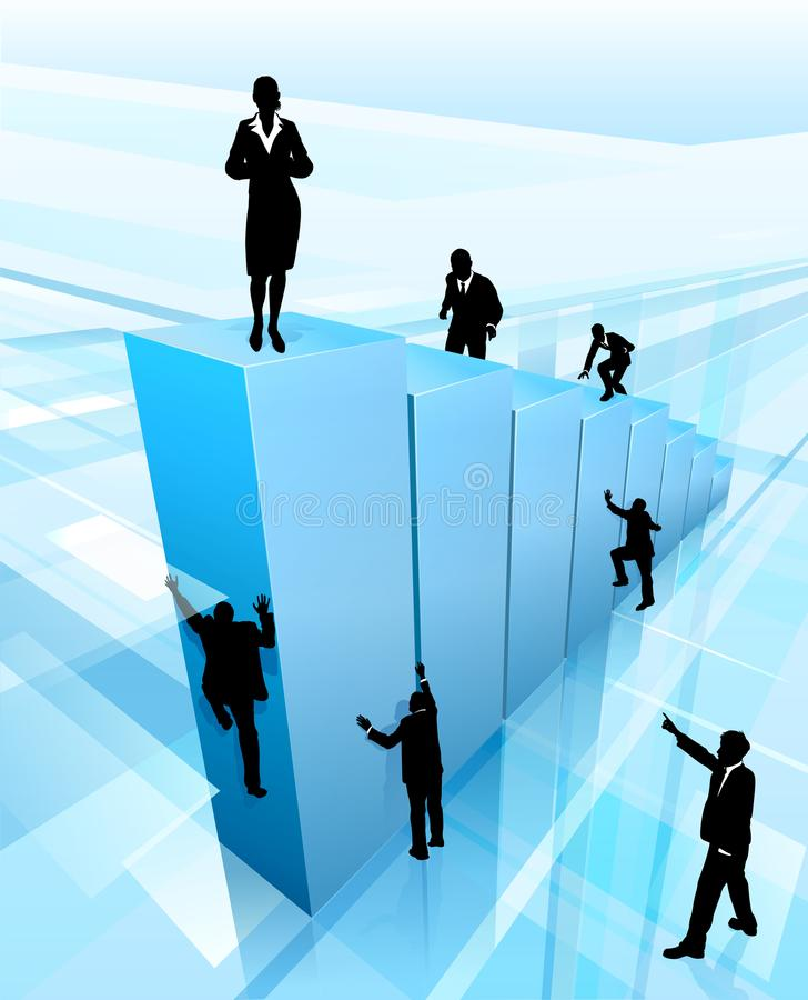 Success Concept Business People Silhouettes stock illustration