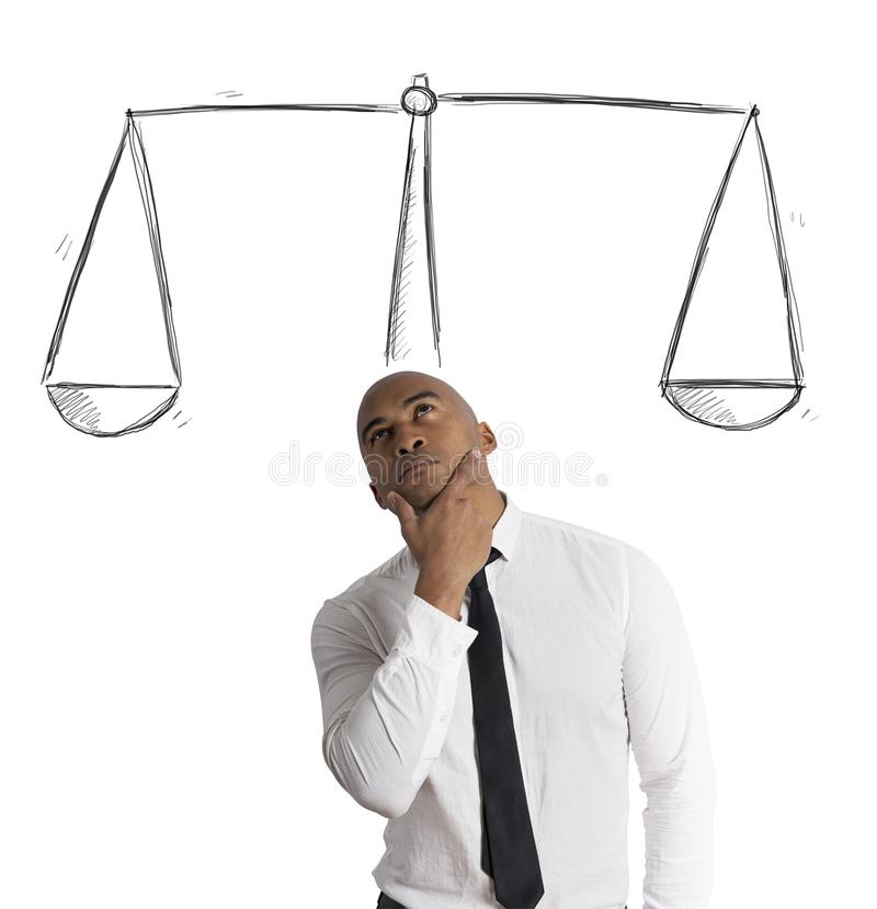 Business decision stock image