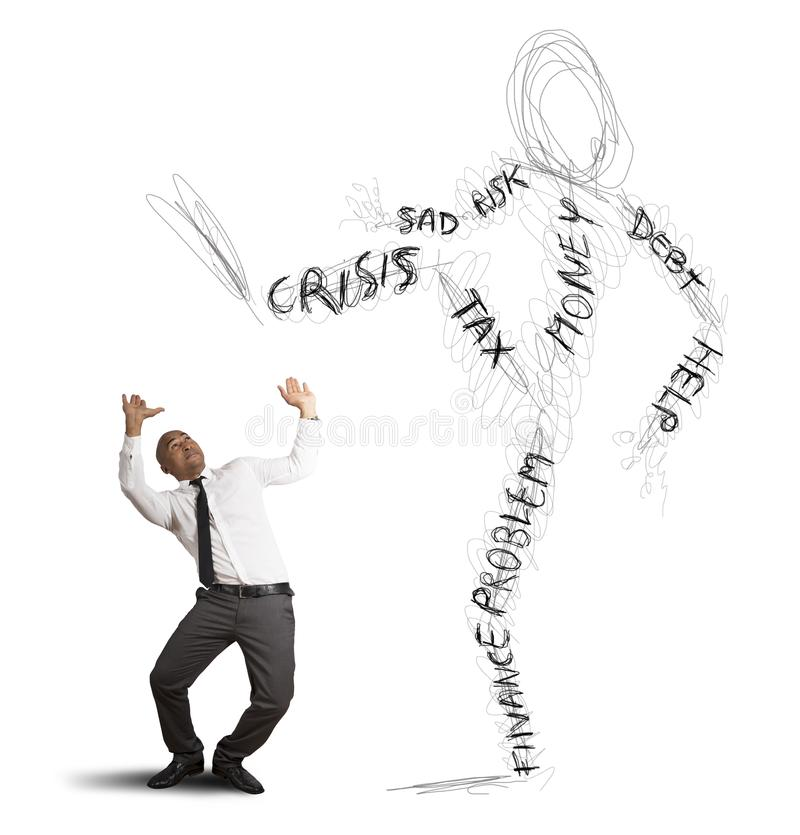 Download Businessman Oppressed By The Crisis Stock Photo - Image: 29914760