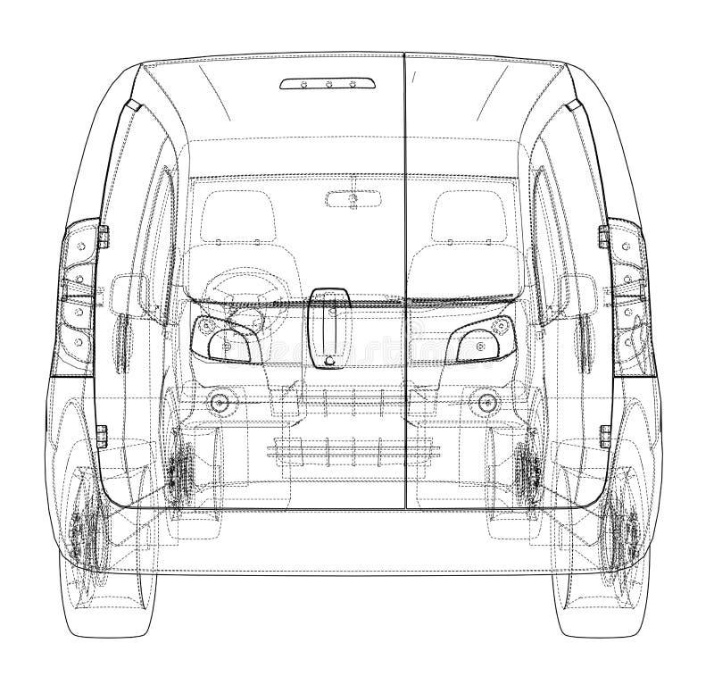 Charmant Blueprint Fahrzeug Fotos - Elektrische ...