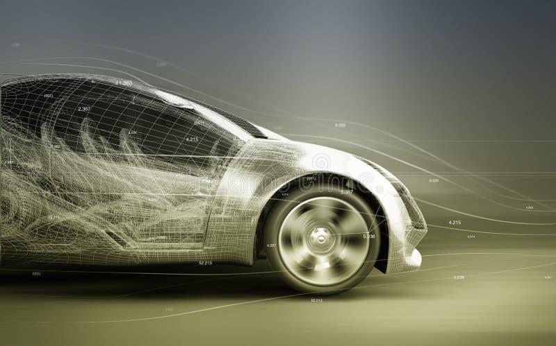 Concept car. 3d render of a concept car royalty free illustration