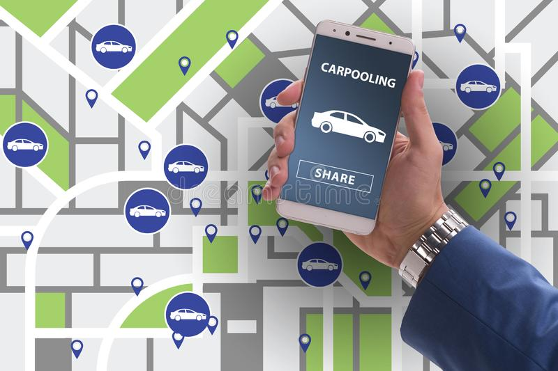 The concept of car ordering online. Concept of car ordering online stock image