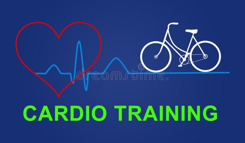 Concept of cardio training vector illustration