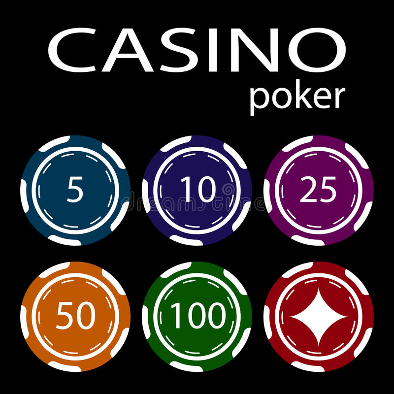 The concept of a casino. Casino chips. A set of casino chips vector illustration