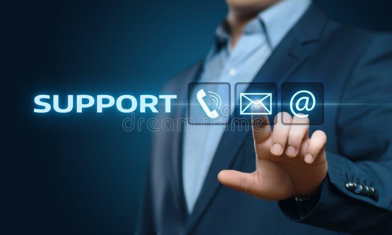 Concept central de technologie d'affaires d'Internet de service client de support technique image libre de droits