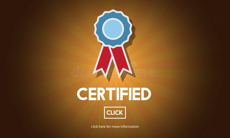 Concept certifié de confirmation d'accord d'approbation illustration stock